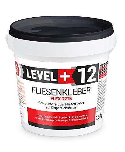 1,5 kg de pegamento para azulejos listo para piedra, mortero flexible, color blanco, interior y exterior, adhesivo de dispersión RM12