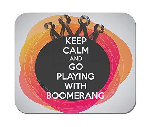 Makoroni - bleiben Sie ruhig und spielen Sie mit Bumerang - rutschfestem Gummi - Computer, Gaming, Office-Mauspad