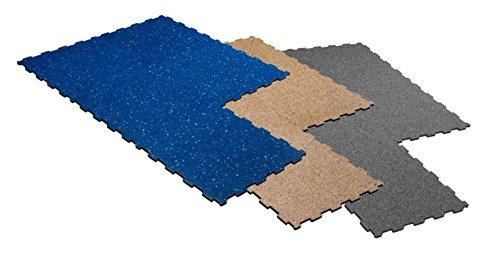 S.B.J - Sportland Matte Studioline Cardio, 50 x 50 cm, ca. 1,5 cm dick, Puzzlematten/Steckmatten/Bodenmatten/Sportmatten/Spielteppich/Unterlegmatten