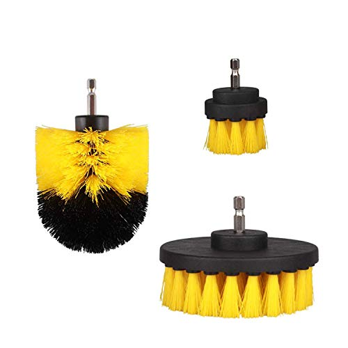 JINYJIA Drill Brush Attachment Set, Scrubber Brush Cleaning Kit for Bathroom, Kitchen, Pool Tile, Carpet, Flooring, Fits Most Drills