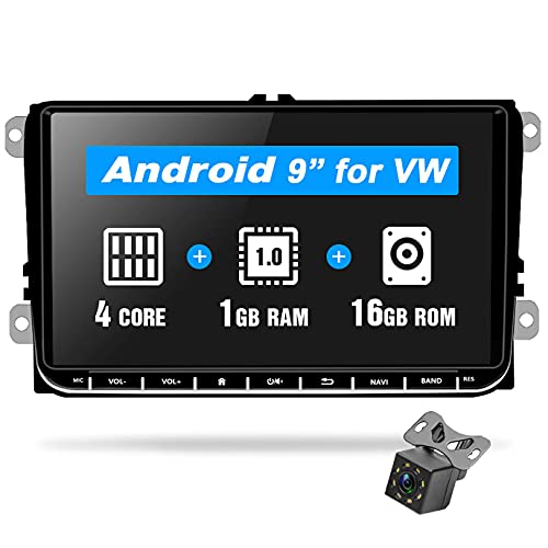 Android 8.1 Autoradio 2 Din per VW Navigazione GPS Podofo 9'' HD Touch Screen capacitivo Bluetooth Auto Lettore Stereo WIFI FM Ricevitore USB per VW Golf Touran Jetta POLO Seat Sharan Passat