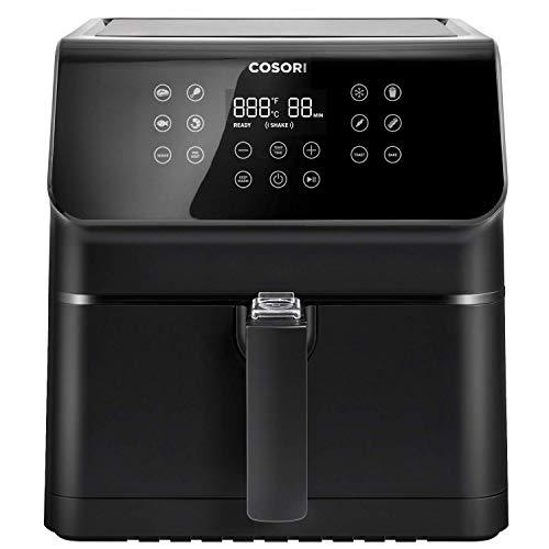 COSORI Air Fryer, LargeXL5.8Quart 1700-Watt AirFryerOven&OillessCookerwith Cookbook(100Recipes) LEDDigitalTiltOne-TouchscreenwithPreheat, Customizable10Presets & ShakeReminder, Black (Renewed)