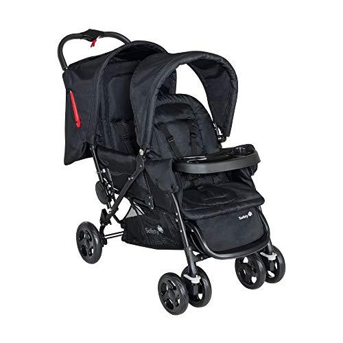 Safety 1st Duodeal Zwillings-Kinderwagen, bequemer Geschwisterwagen im kompakten Faltformat, geeignet ab der Geburt - ca. 3,5 Jahre, (0-15 kg)