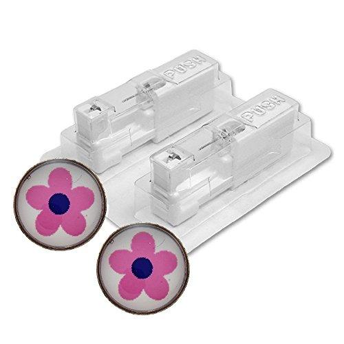 1 Paar STUDEX Medizinische Ohrstecker BLUME pink