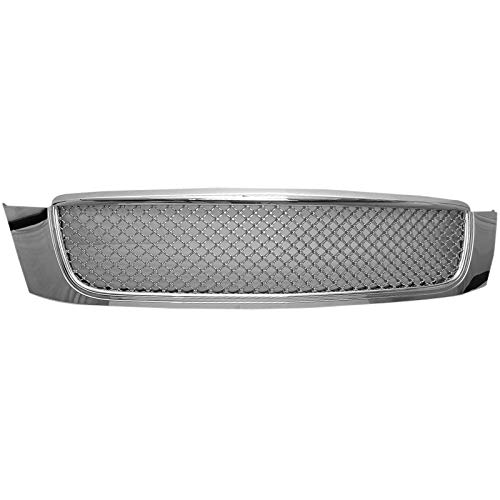 Grille Compatible With 2000-2005 CADILLAC DEVILLE | Diamond mesh Style ABS Chrome by IKON MOTORSPORTS
