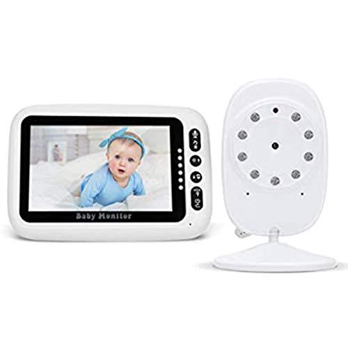 Wireless 4.3 Inch LCD-scherm Video Babyfoon, Babyfoon Met Night Vision Temperatuur Monitoring & 2-weg Intercom, 8-slaapliedjes - Baby Elder Pet Monitors For Nanny/Ouderen/Dier