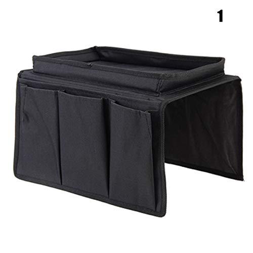 Godob - Organizador de 4 bolsillos para sofá, pasamanos, reposabrazos, organizador, mando a distancia
