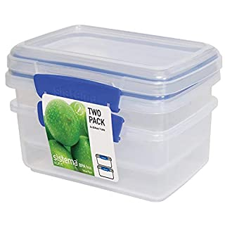 Sistema 1602 Klip It Collection Rectangle Food Storage Container, 33.8 Ounce (Set 2) (B002JIL3MA) | Amazon price tracker / tracking, Amazon price history charts, Amazon price watches, Amazon price drop alerts