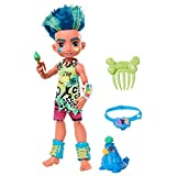 Cave Club Muñeco Slate, muñeca prehistórica con mascota y accesorios (Mattel...
