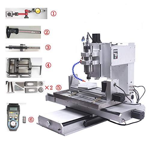 Máquina de grabado de enrutador CNC de 5 ejes CNC 6040 Tornillo de bola USB Tipo de columna CNC Madera Aluminio Cobre Metal Nueva fresadora 5 orejetas y kit