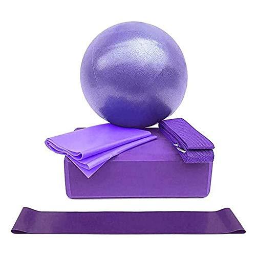 Bola de Yoga es Conveniente for los Clientes for Volver a llenar, Especialmente equipados con tapón de la válvula, una operación cuidadosa y fácil de Llevar (Color : Purple)