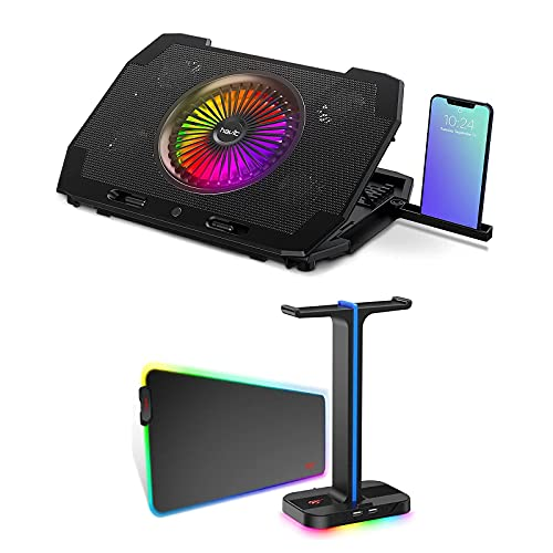Havit RGB Gaming Mouse Pad Headset Stand and Laptop Cooling Pad for PC Game