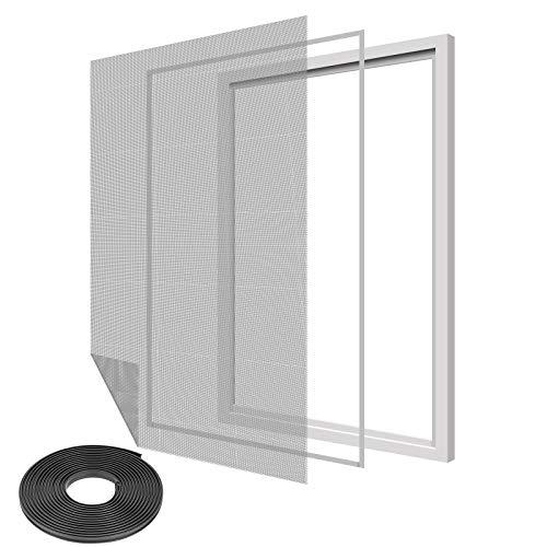 Ulikey DIY Insektenschutz Magnetfenster, Fliegengitter Fenster, Rahmen für Fliegengitter Fenster Mückengitter, kein Bohren, Insektenschutz mit Klettband, Max 100 x 130 CM
