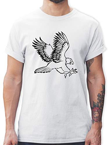 Vögel - Adler - L - Weiß - Adler - L190 - Tshirt Herren und Männer T-Shirts