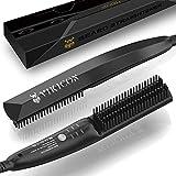 Piastra per Barba Capelli Uomo VIKICON, Mini Styler Spazzola Lisciante per Capelli Barba Professionale, Pettine Elettrica...