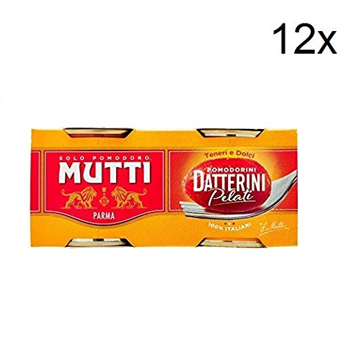 12x Mutti Pomodori Datterini Pelati Tomaten ( 220 gr x 2 ) 100% Italienisch
