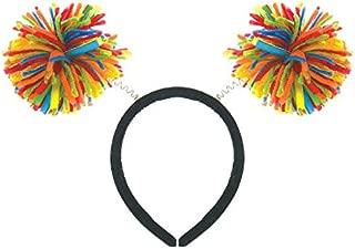 Amscan Pom Pom Headbopper, Party Accessory, Rainbow
