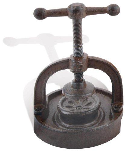 Esschert Design Nussknacker, Schraubgewinde mit Auffangrand aus Gusseisen, ca. 14 cm x 14 cm x 17 cm