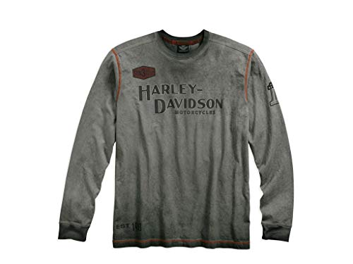 Harley-Davidson Men's Iron Block Long Sleeve Tee, 99010-17VM, L