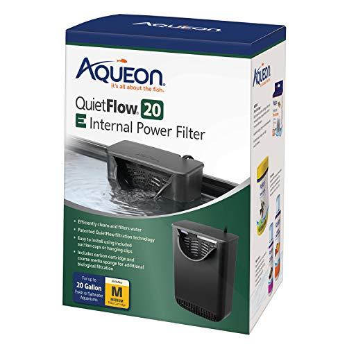 Aqueon Quietflow E Internal Power Filter for 20 Gallon Aquarium