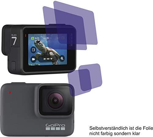 I 4X Crystal Clear klar Schutzfolie für GoPro Hero 7 Hero7 Displayschutzfolie Bildschirmschutzfolie Schutzhülle Displayschutz Displayfolie Folie - je 2 Folien für beide Displays