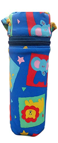 Tavish Portable Feeding Bottle Cover with Thermal Warmer and Holder (Multicolor)