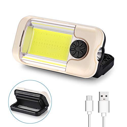 LED Arbeitsleuchte akkulampe Taschenlampe COB Inspektionsleuchten Arbeitsstrahler Werkstattlampe Campinglampe USB Wiederaufladbare Baustrahler Dimmbar für Stromausfällen, Zelt, Camping, Notfall