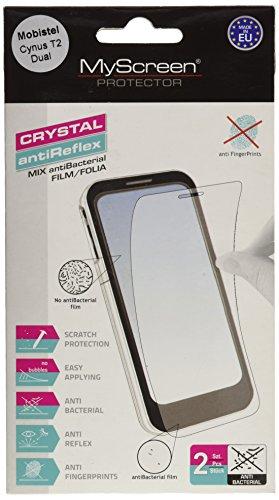 Mobistel 2CCHB+AGPB Displayschutzfolie (2X Folien, 1x Mikrofasertuch, 1x Applikator) für Cynus T2 Dual