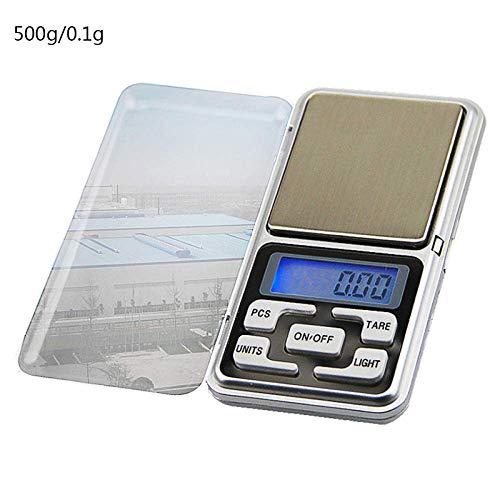 FEE-ZC Küchenhaus Multifunktions-Digital-Präzisionswaage 500G/1/2/3Kg 0 01/0 1G LCD-Digitalwaagen Mini-Präzisions-Elektronik Gramm Gewichtswaage Küchentee-Backwaage-Waage-500G-0.1G