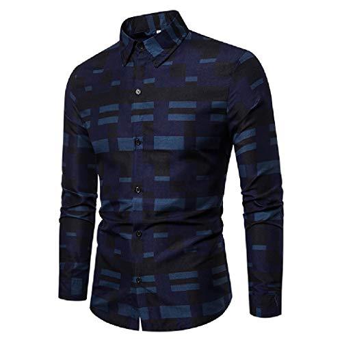 Camisa social masculina Zimaes listrada de manga comprida com colarinho virado para baixo, 1, Small