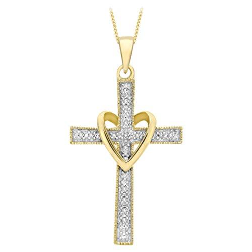 Carissima Gold Damen - Kette 9 k (375) Rundschliff Diamant 1.40.6974
