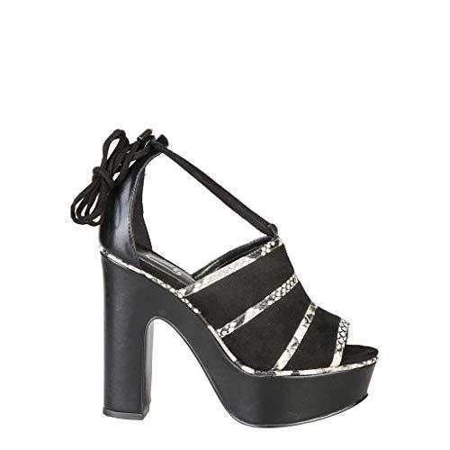 ANA LUBLIN Women's Designer Sandals OTACILIA - Black - 40