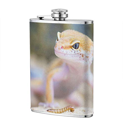 Frasco de gecko de reptil blanco salvaje XBYC para frasco de licor y embudo de acero inoxidable para...
