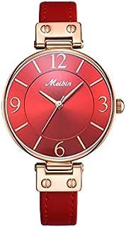 Meibin Analog Wrist Watch Leather Water Resistant For Women, M1203-RRG