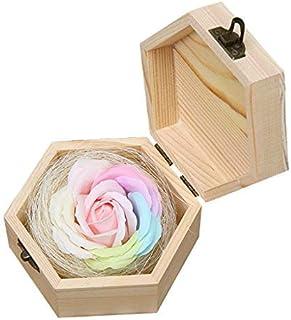 Tumao ソープフラワー バラ 母の日 誕生日 プレゼント 結婚記念日 プレゼント 昇進 お祝い 結 香り 入浴剤 大切な人 送別会 お返し 定年祝い 創意プレゼント 装飾 ギフト 木製ボックス ロマンチック 精巧な包装 (ピンク)