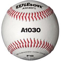 Wilson WTA1030BFS Pelotas de beisbol, A1030 FLAT SEAM, Blanco