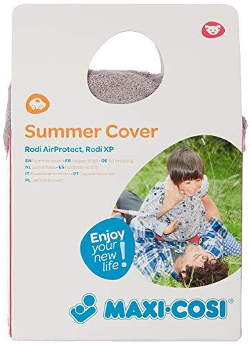 Maxi-Cosi Sommerbezug, passend für Rodi AP und Rodi XP Kindersitze, Schonbezug Autositz, Bezug für die warmen Sommertage, Cool Grey, Grau (passt nicht auf Rodifix AP)
