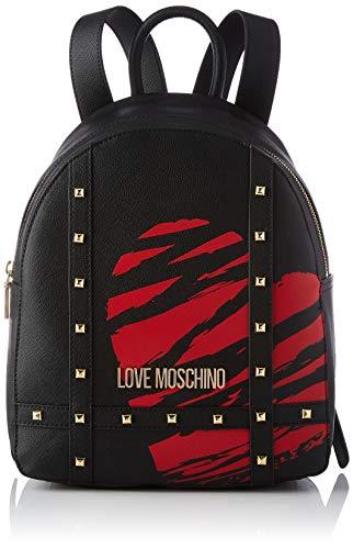 Love Moschino Precollezione SS21 | Zaino PU da Donna, Borse a Zainetto, Nero, medium