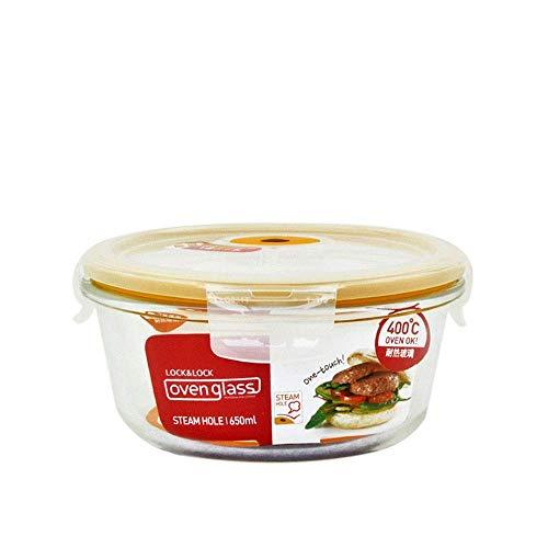 ZFFSC Keuken Lunch Box Opslag, Stoomgaten Kan Direct In De Magnetron Verwarming/Glas Voedseldoos 500ML / Verzegelde Hittebestendige Glas Materiaal Verse doos