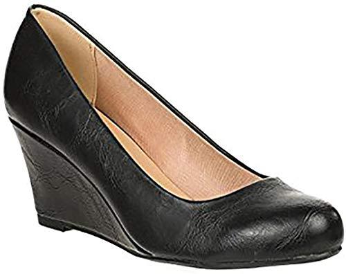 Forever Doris-22 Wedges Pumps-Shoes mve Shoes Doris 22 Black pu Size 6.5