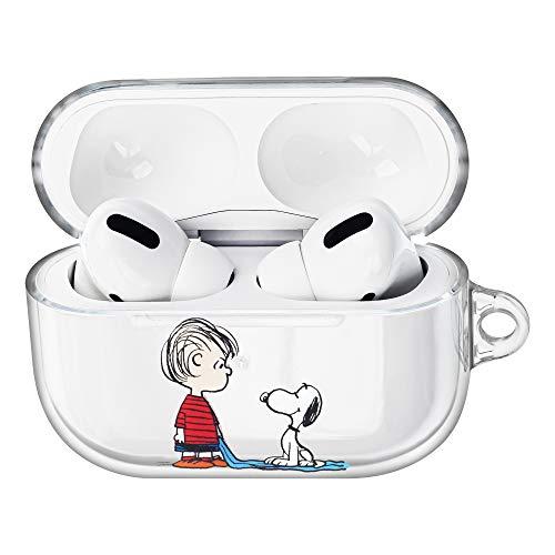 Peanuts Snoopy ピーナッツ スヌーピー AirPods Pro と互換性があります と互換性があります ケース 透明 エアーポッズ プロ 用 ケース 硬い スリム ハード カバー (一緒 スヌーピー ライナス) [並行輸入品]