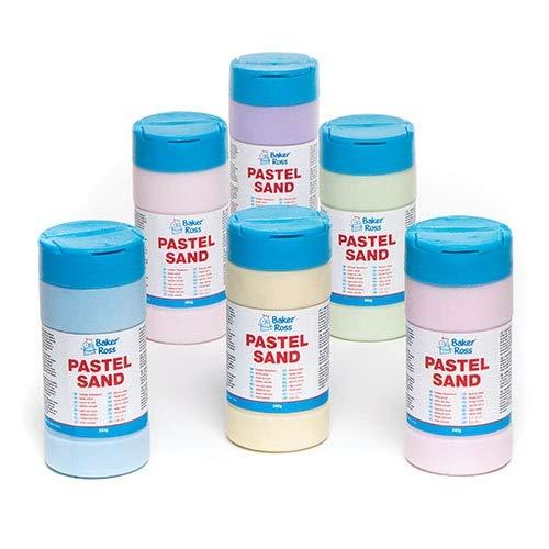 Baker Ross- Botes de Arena en colores Pastel (Caja de 6) para Manualidades infantiles de Decoración con Arena y para crear Efectos de Pintura Texturizada