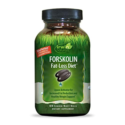 Irwin Naturals Forskolin Fat-Loss Diet Healthy Weight Loss Support + Fat Burner with Flaxseed & Coconut Oil - 60 Liquid Softgels