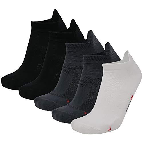 Calcetines de correr de rendimiento de corte bajo, paquete múltiple, ajuste ultraligero, resistente a ampollas, zapatillas deportivas, hombres y mujeres, 1/3/5 pares, Multicolor...