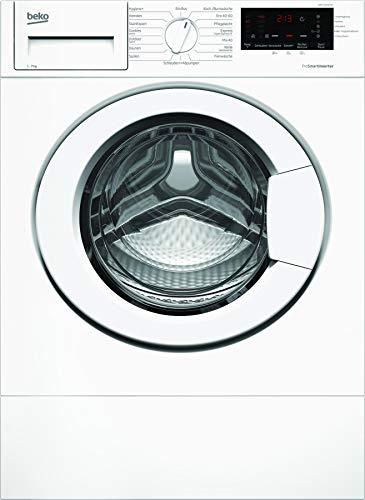 Beko WMI71433PTE1 Lavadora integrada/indicador de tiempo restante y selección de centrifugador/Removal para mascotas/función de repuesto/Watersafe+blanco/clase energética C