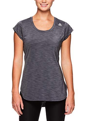 Reebok Women's Legend Performance Top Short Sleeve T-Shirt - Medium Grey, Extra Small