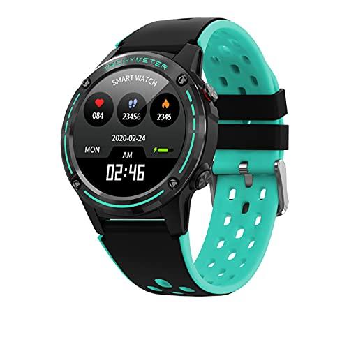 APCHY GPS Smart Watch Mujeres 2020 con barómetro de brújula Deporte al Aire Libre Rastreador de Fitness Ritmo cardíaco Reloj Inteligente GPS(Verde)