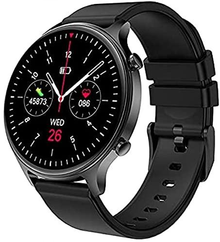 LLM Reloj Inteligente Relojes para Mujer IP68 Reloj de Pulsera para Hombre a Prueba de Agua con frecuencia cardíaca y presión Arterial para Android iOS Reloj(A)
