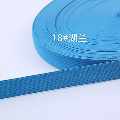 Kleurrijke Elastische Bands 25mm 1 Meter Polyester Lint 2,5 cm Webbing Naaien Kant Trim Taille DIY Tassen Broek Kledingaccessoires 2.5cm 18 lake blue