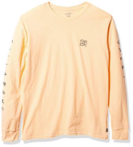 Billabong Men's Long Sleeve Premium Logo Graphic Tee T-Shirt, Light Peach Unite, M